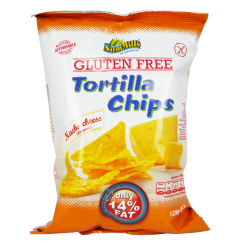 Безглутенов тортила чипс с вкус на Сирене 125 г - Sam Mills