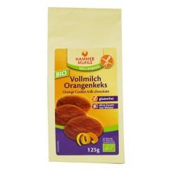 Безглутенови шоколадови бисквити с портокалов пълнеж Hammer Mühle - 125 гр