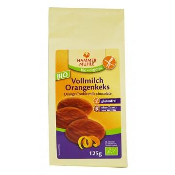 Безглутенови шоколадови бисквити с портокалов пълнеж 125 гр - HAMMER MÜHLE