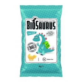 БИО царевичен снакс с морска сол печен BioSaurus