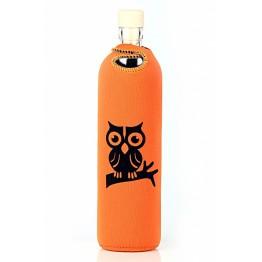 Бутилка за структуриране на вода Flaska Neo Design 0.750 - оранж черна сова