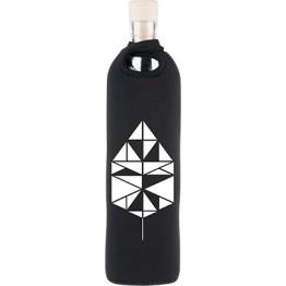 Бутилка за структуриране на вода Flaska Neo Design 750 мл. -  черен - танграм