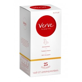 Чай от джинджифил с билки Verve Herb Ginger - 20 сашета