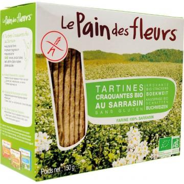 """""""Хляб от цветя"""" хрупкави хлебчета с елда без глутен Le pain des fleurs - 150 гр"""