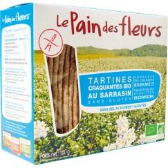 Хляб от цветя хрупкави хлебчета с елда без сол, захар и глутен Le pain des fleurs - 150 гр