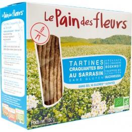 """""""Хляб от цветя"""" хрупкави хлебчета с елда без сол, захар и глутен Le pain des fleurs - 150 гр"""