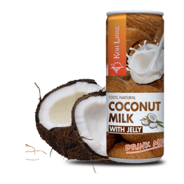 Кокосово мляко за пиене с Jelly парченца, 250 мл. - Koh Libre