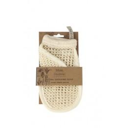 Натурална ексфолираща ръкавица за тяло от сизал - Hydrea London