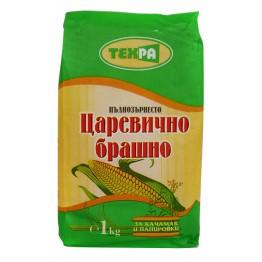 Пълнозърнесто царевично брашно Техра - 1 кг