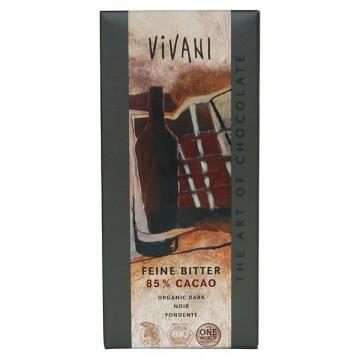 Шоколад фин натурален 85% какао Vivani