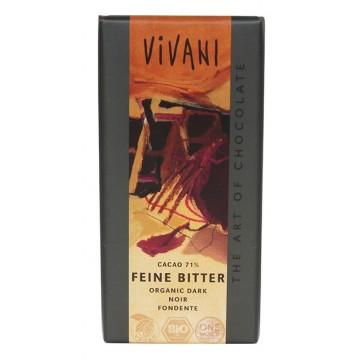 Шоколад натурален 71% какао Vivani - 100 гр