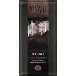 Шоколад натурален цели бадеми Vivani
