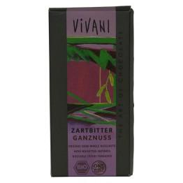 Шоколад натурален цели лешници Vivani
