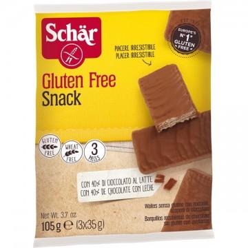 Безглутенови шоколадови вафли 105 гр (3 х 35 гр)  - Dr. Schär