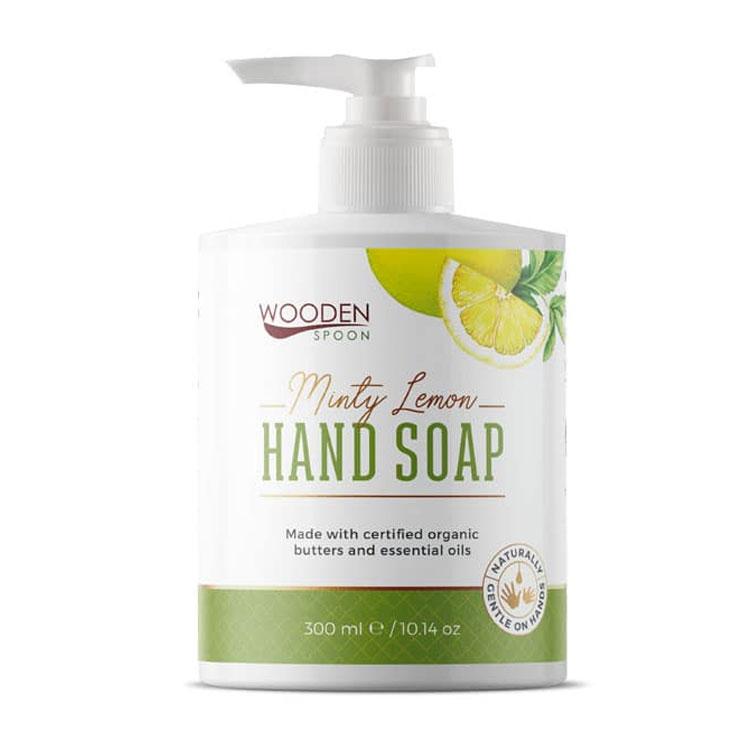 Течен сапун за ръце Мента и Лимон Wooden spoon - 200 мл..